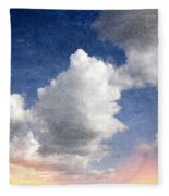 Retro Clouds 2 Fleece Blanket