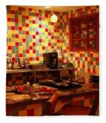 Retro Diner Fleece Blanket