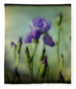 Retro Iris Metting Fleece Blanket