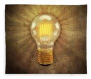 Retro Light Bulb Fleece Blanket