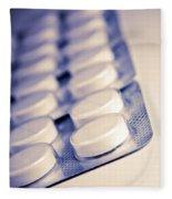 Retro Pills Fleece Blanket