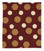 Retro Polka Dot Fleece Blanket