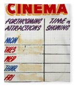 Retro Roxy Cinema Sign Fleece Blanket