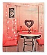 Retro Valentine Fleece Blanket