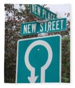 Sign Post Fleece Blanket