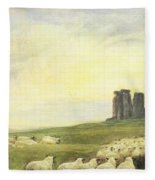 Returning Home     Stonehenge Fleece Blanket