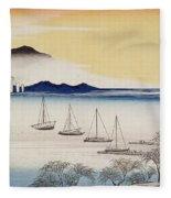 Returning Sails At Yabase Fleece Blanket