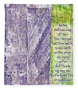 Revelation 21 4 Fleece Blanket