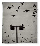 Revenge Of The Birds Fleece Blanket