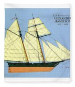 Revenue Cutter Alexander Hamilton Fleece Blanket