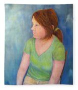 Reverie Of A Young Woman Fleece Blanket