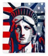 Reversing Liberty 1 Fleece Blanket