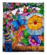 Rex Mardi Gras Parade Fleece Blanket