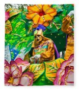 Rex Mardi Gras Parade X Fleece Blanket