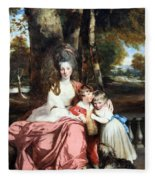 Reynolds' Lady Elizabeth Delme And Her Children Fleece Blanket