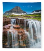 Reynolds Mountain Falls Fleece Blanket
