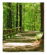 Wooded Path 15 Fleece Blanket