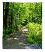 Wooded Path 20 Fleece Blanket