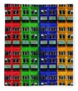 Rgby - Downtown Apartments Fleece Blanket