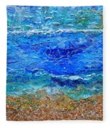 Rhapsody On The Sea Square Crop Fleece Blanket