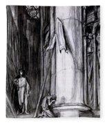 Rheims Cathedral, Scene From St Joan Fleece Blanket