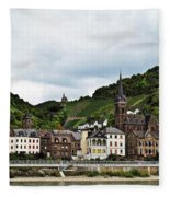 Rhine River View Fleece Blanket
