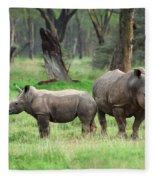 Rhino Family Fleece Blanket
