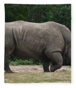Rhino In The Wild Fleece Blanket