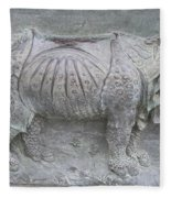 Rhino Relief - Church Door Detail Pisa Fleece Blanket