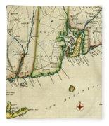 Rhode Island 1780 Fleece Blanket