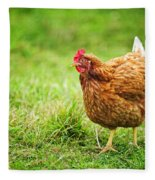 Rhode Island Red Chicken Fleece Blanket
