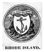 Rhode Island State Seal Fleece Blanket