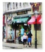 Rhode Island - Thames Street Newport Ri Fleece Blanket