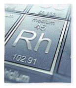 Rhodium Chemical Element Fleece Blanket