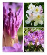 Rhododendron Collage Fleece Blanket