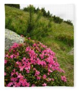 Rhododendron Fleece Blanket