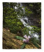 Rhododendron At The Falls Fleece Blanket