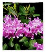 Rhododendron Closeup Fleece Blanket