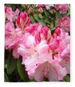 Rhododendron Garden Art Prints Pink Rhodie Flowers Fleece Blanket