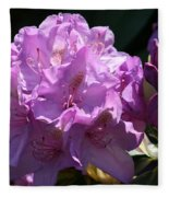 Rhododendron In The Morning Light Fleece Blanket