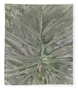 Rhododendron Leaf Fleece Blanket