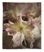 Rhododendron Mary Fleming Fleece Blanket