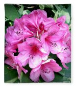 Rhododendron Square With Border Fleece Blanket
