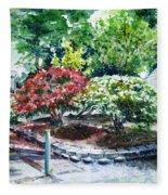 Rhododendrons In The Yard Fleece Blanket