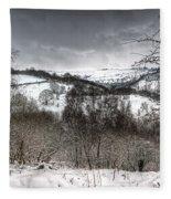 Rhymney Valley Winter 5 Fleece Blanket