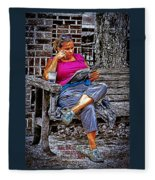 Rhythmic Reading Fleece Blanket