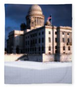 Ri State Capitol 1 Fleece Blanket