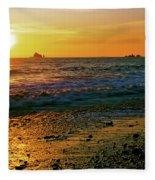 Rialto Beach Sunset Olympic National Park Fleece Blanket
