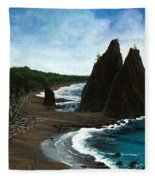 Rialto Beach Wa Fleece Blanket