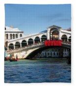Rialto Bridge Venice Fleece Blanket